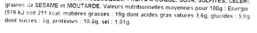 Terrine de saumon Bio - Informations nutritionnelles - fr