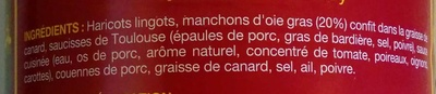 Cassoulet au confit d'oie - Façon Castelnaudary - Ingrédients - fr