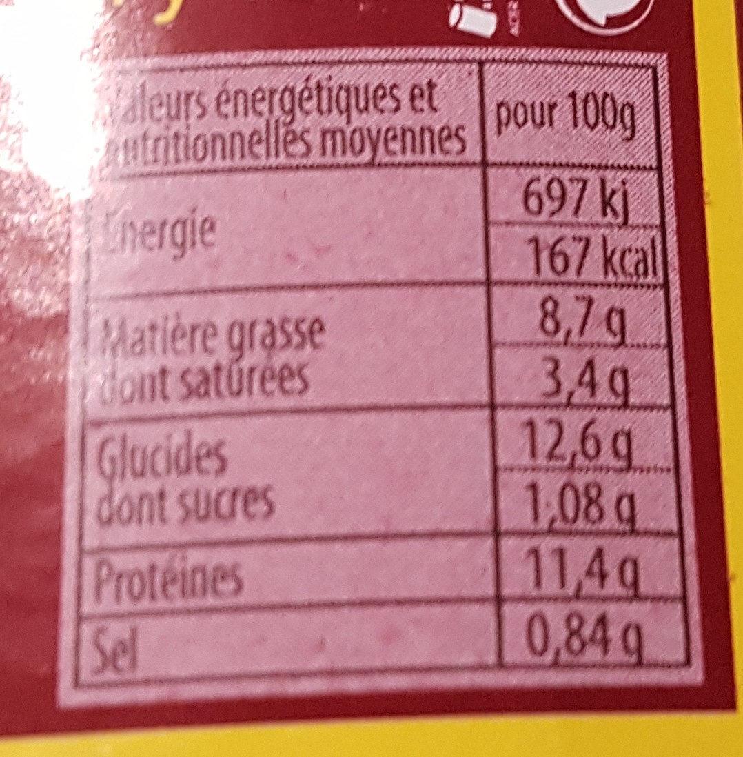 Cassoulet au confit d'oie façon Castelnaudary - Voedingswaarden - fr