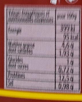 Tripes Au Boeuf Et Jambon - Informations nutritionnelles - fr