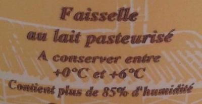 Fromage Frais en Faisselle (6 % MG) - Ingrédients - fr