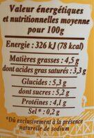 Fromage Frais en Faisselle (6 % MG) - Nutrition facts - fr