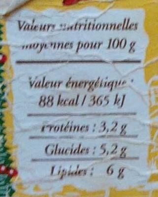 Fromage frais en faisselle - Nutrition facts - fr
