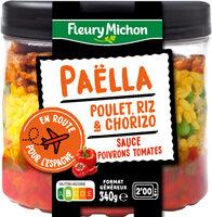 Paëlla poulet, riz & chorizo, sauce poivrons tomates - Prodotto - fr