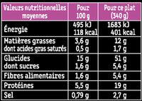 Poulet, nouilles chinoises & légumes croquants, sauce soja - Voedingswaarden - fr