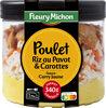 Poulet, riz au pavot & carottes sauce curry jaune - Produit