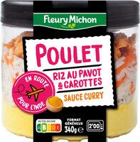 Poulet riz au pavot & carottes sauce curry - Prodotto - fr