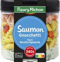 Saumon, gnocchetti, sauce ricotta épinards - Produit - fr