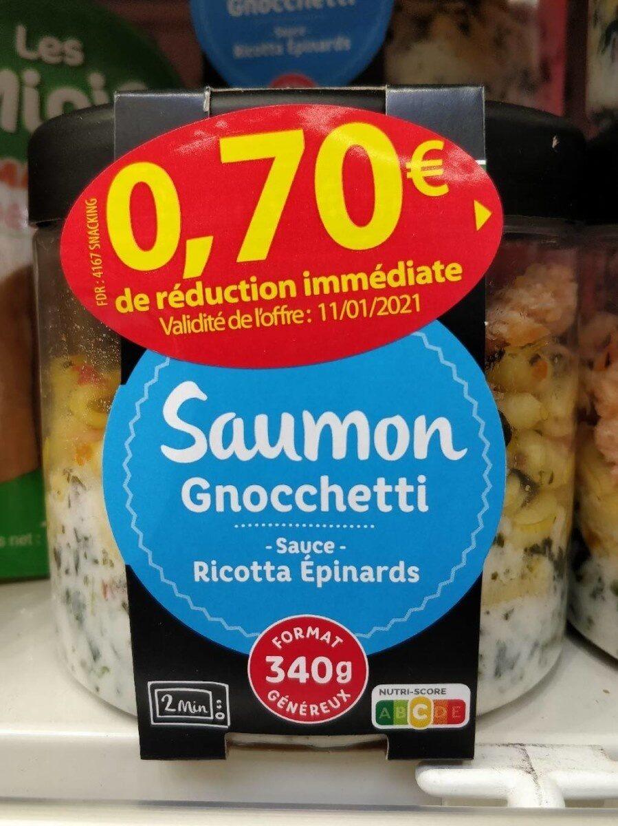 Saumon, gnocchetti, sauce ricotta épinards - Recyclinginstructies en / of verpakkingsinformatie - fr