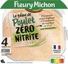 4 TRANCHES BLANC DE POULET ZERO NITRITE - Product