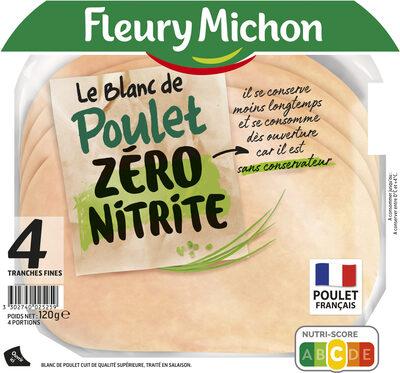 4 TRANCHES BLANC DE POULET ZERO NITRITE - Produit - fr