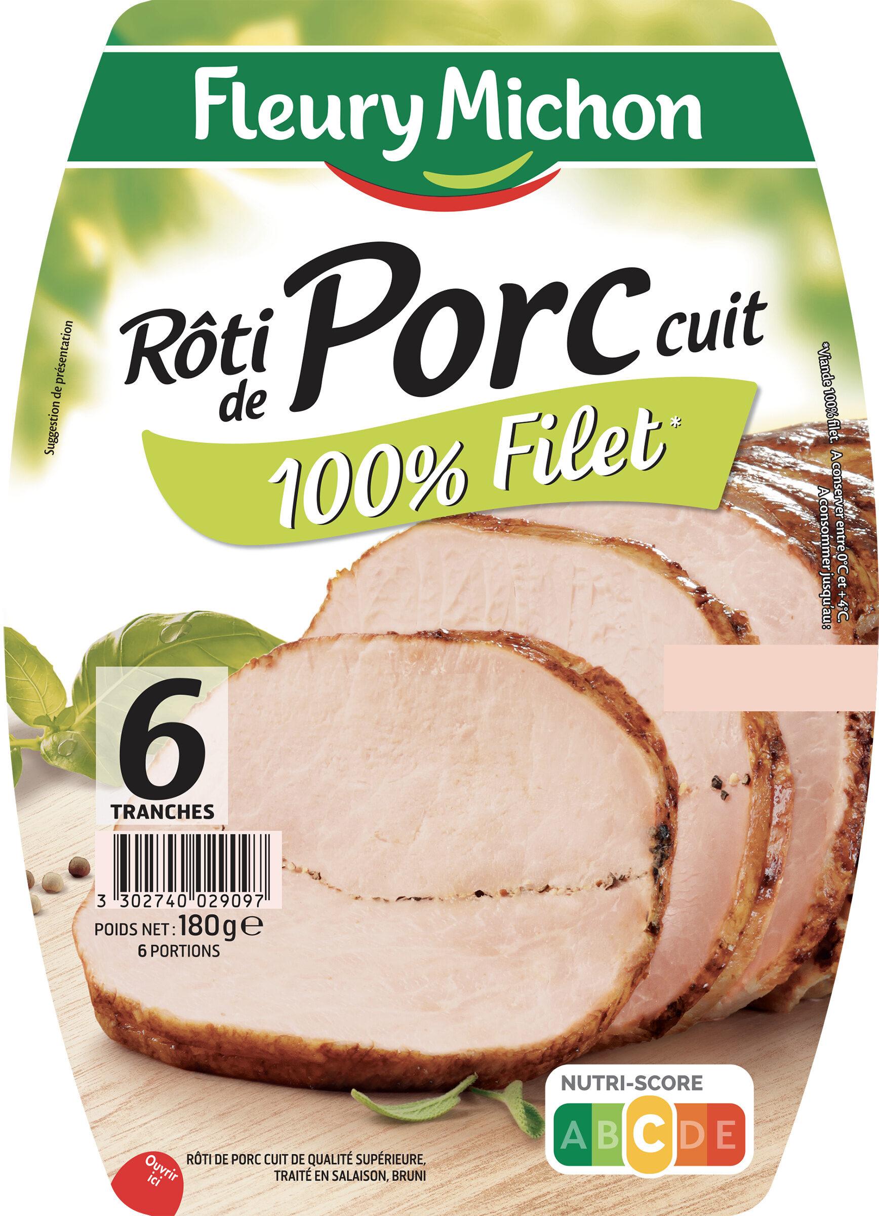 Rôti de Porc cuit - 100% filet* - 6tr - Product