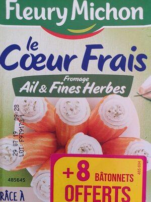 Le coeur frais fromage ail et fines herbes - Prodotto - fr