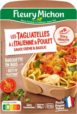 Les Tagliatelles à l'Italienne & Poulet sauce crème & basilic - Produkt - fr