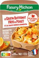 Le Gratin Butternut Pâtes & Poulet et sa sauce crème & emmental - Prodotto - fr