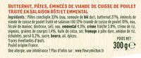 Le Gratin Butternut Pâtes & Poulet et sa sauce crème & emmental - Ingredienti - fr