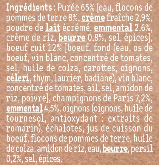 Le Parmentier de Boeuf Charolais purée à la crème fraîche - Ingredients - fr