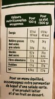 Parmentier de boeuf Charolais - Nutrition facts