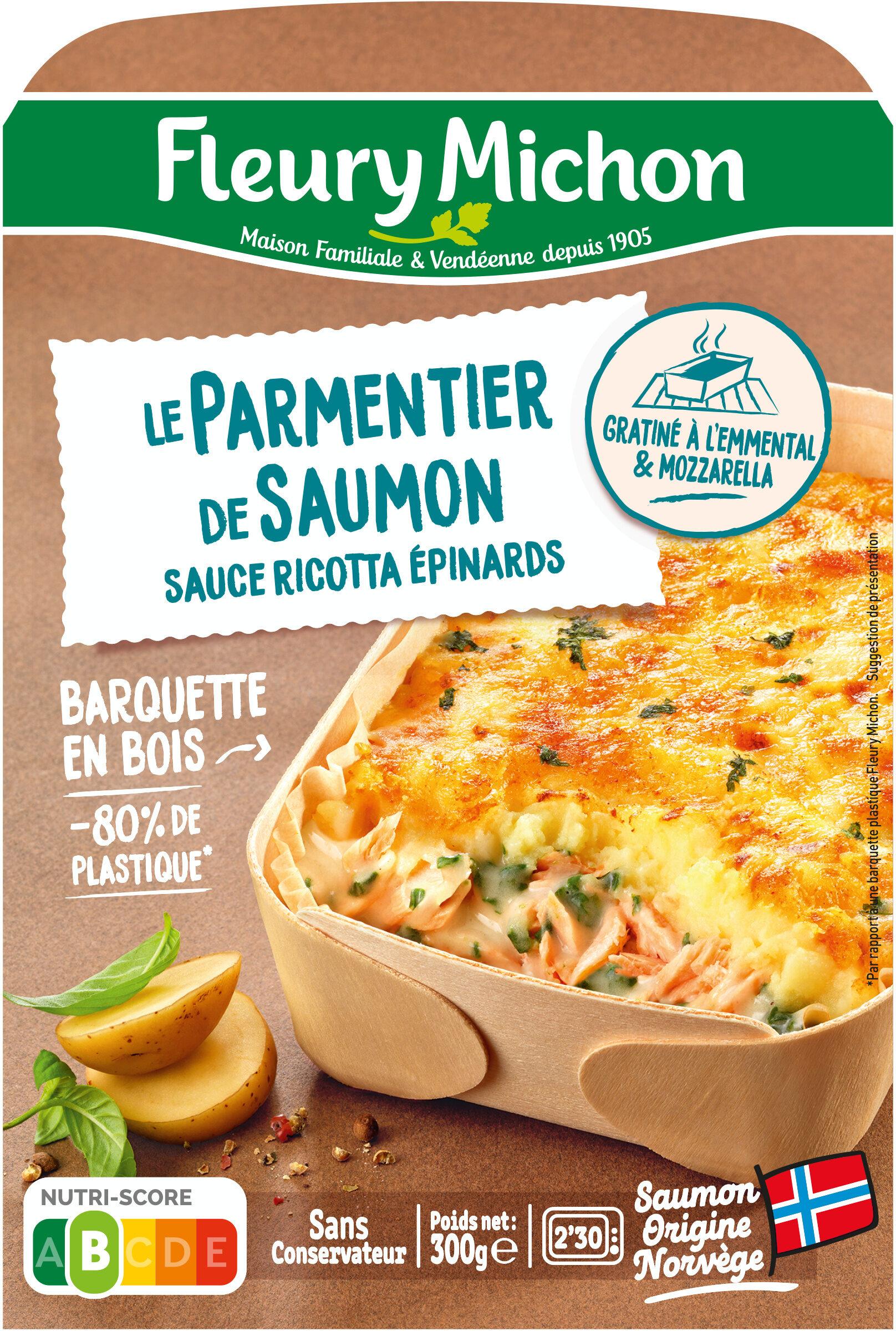 Le Parmentier de saumon sauce ricotta épinards - Product - fr