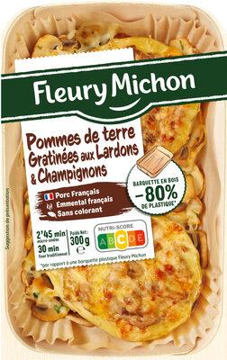 Pommes de terre gratinées aux lardons et champignons - Product - fr
