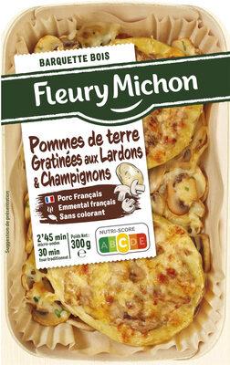 Pommes de terre gratinées aux lardons et champignons - Product