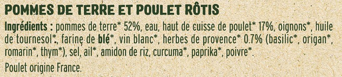 Poulet pommes de terre Rôtis - Ingredienti - fr