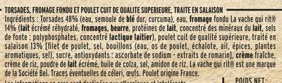 Torsades Poulet en Allumettes au fromage La vache qui rit® - Ingrédients