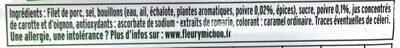 Le rôti de porc ZERO NITRITE - 4 TR - Ingrédients
