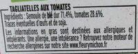 Tagliatelles aux tomates - Ingrédients - fr