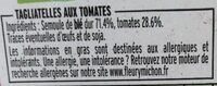 Tagliatelles aux tomates - Ingredienti - fr
