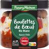 Boulettes de Boeuf, Riz Blanc Sauce Chili - Produit