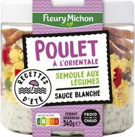Poulet à l'orientale semoule aux légumes sauce blanche - Produit - fr
