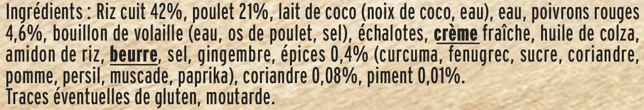 Le colombo de Poulet et son riz long - Ingredienti - fr