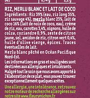 Le Poisson au lait de coco et son duo de riz - Ingrédients - fr
