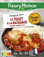 Le poulet à la basquaise poivrons cuisinés et riz - Produit - fr