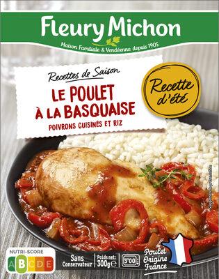 Le poulet à la basquaise poivrons cuisinés et riz - Product - fr