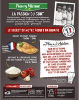 Le poulet à la basquaise poivrons cuisinés et riz - Ingredients - fr