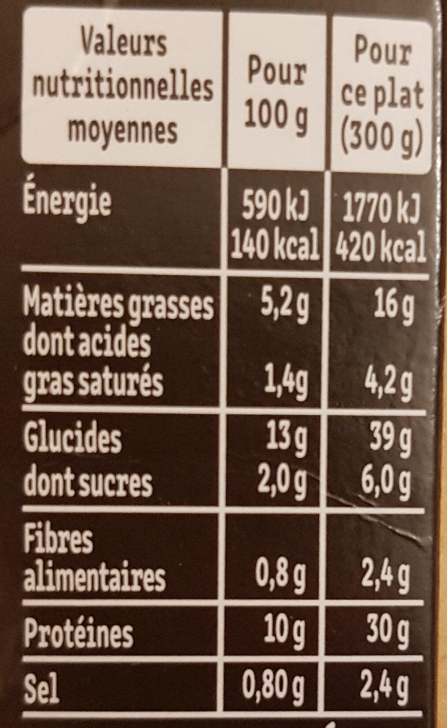 Le poulet à la basquaise poivrons cuisinés et riz - Informations nutritionnelles - fr