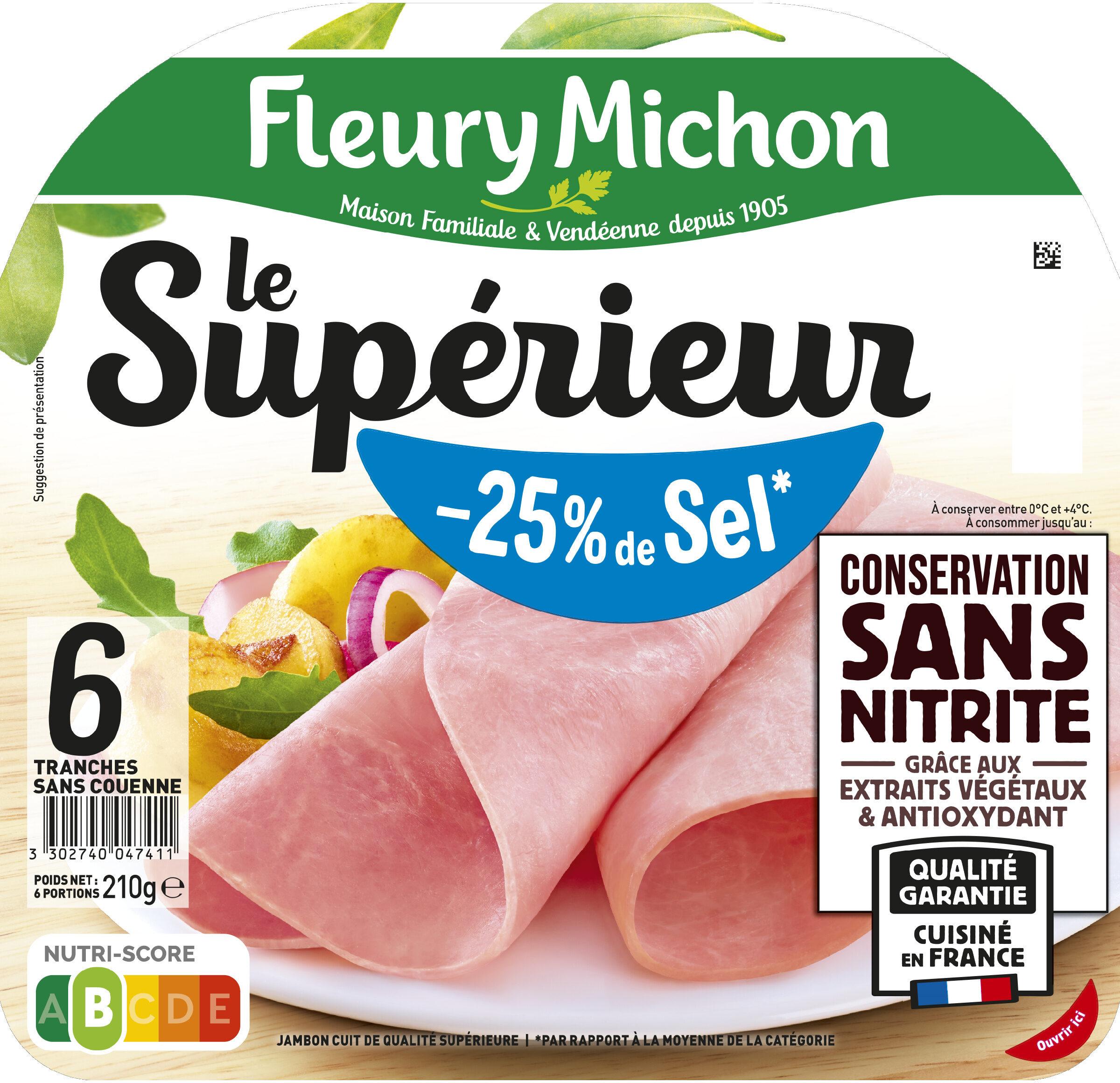 Le Supérieur -25% de Sel - Conservation sans Nitrite - Produit - fr