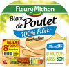 Blanc de poulet - tranches fines - 25% de sel* - 100% filet ** -  8 tranches fines - Product