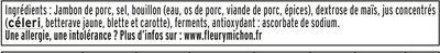 Le supérieur cuit à l'étouffée - tranches fines - 8tr - Inhaltsstoffe - fr