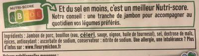 Le supérieur nature - tranches fines-  25% de sel* - 6 tranches - Ingrediënten - fr