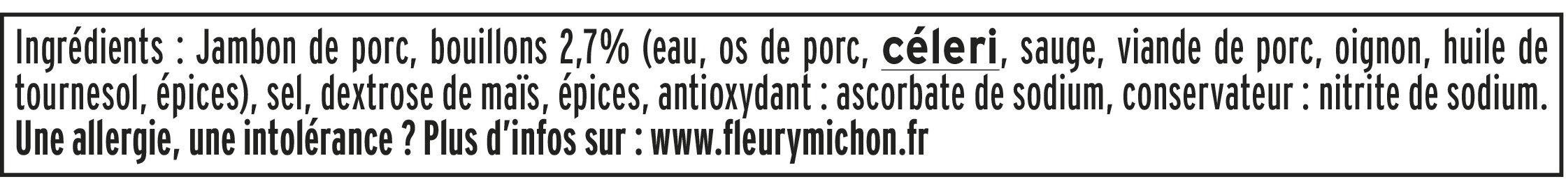 Le supérieur nature - tranches fines-  25% de sel* - 6 tranches - Ingredienti - fr