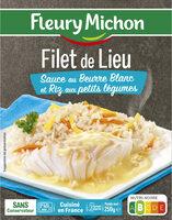 Filet de Lieu Sauce au Beurre Blanc et Riz aux petits légumes - Product - fr