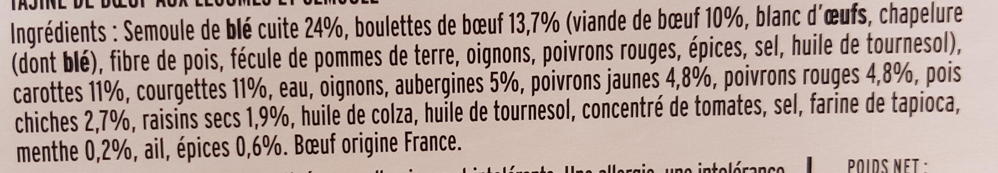 La Tajine de Boeuf et ses Légumes du Soleil - Ingredienti - fr