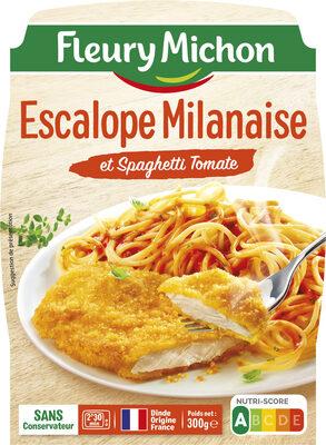 Escalope Milanaise et Spaghetti Tomate - Produit - fr