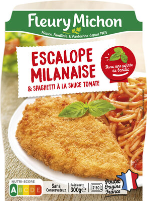 ESCALOPE MILANAISE & SPAGHETTI À LA SAUCE TOMATE - Produit - fr