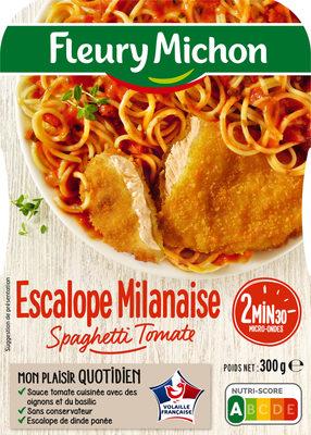 Escalope de dinde milanaise spaghetti tomates basilic - Produit