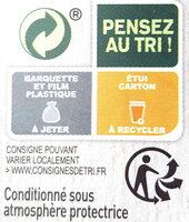 ESCALOPE MILANAISE & SPAGHETTI À LA SAUCE TOMATE - Instruction de recyclage et/ou informations d'emballage - fr