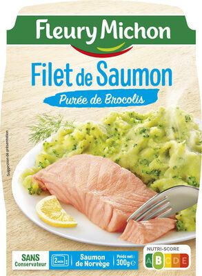 Filet de Saumon Purée de Brocolis - Product - fr